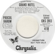 7inch Vinyl Single - Procol Harum - Grand Hotel - promo