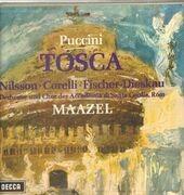 LP - Puccini/ L. Maazel, Nilsson, Corelli, Fischer-Dieskau - Tosca - booklet with libretto