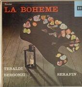LP-Box - Puccini/ T. Serafin, R. Tebaldi, C. Bergonzi, R. Cesari, F. Corena a.o. - La Bohème - booklet with libretto