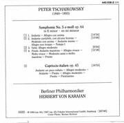 CD - Tchaikovsky - Symphonie Nr. 5 / Capriccio Italien