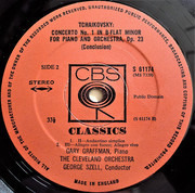 LP - Pyotr Ilyich Tchaikovsky - Gary Graffman , George Szell , The Cleveland Orchestra - Piano Concerto No.1 In B Flat Minor