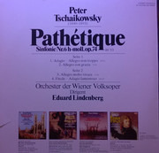 LP - Tchaikovsky - Sinfonie Nr. 6 H-moll, Op. 74 'Pathétique'