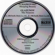 CD - Tchaikovsky / Glazunov - Sleeping Beauty = Dornroeschen = La Belle Au Bois Dormant • The Seasons = Die Jahreszeiten = Les Saisons
