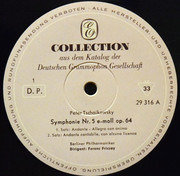 LP - Pyotr Ilyich Tchaikovsky , Berliner Philharmoniker , Ferenc Fricsay - Symphonie Nr. 5 E-moll Op. 64
