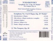 CD - Tchaikovsky - Symphony No. 3 'Polish' / The Tempest Op. 18
