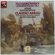 LP - Pyotr Ilyich Tchaikovsky / Carl Maria von Weber , Claudio Arrau , Philharmonia Orchestra , Alceo Ga - Klavierkonzert Nr. 1
