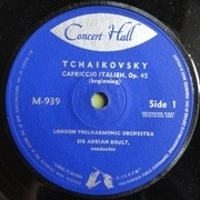 7'' - Pyotr Ilyich Tchaikovsky - The London Philharmonic Orchestra Direction: Sir Adrian Boult - Capriccio Italien