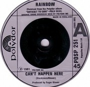 7'' - Rainbow - Can't Happen Here