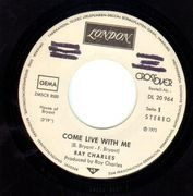 7inch Vinyl Single - Ray Charles - Come Live With Me