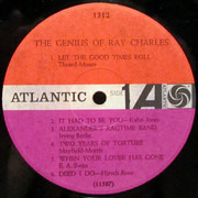 LP - Ray Charles - The Genius Of Ray Charles - Black Fan Label