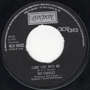 7'' - Ray Charles - Come Live With Me