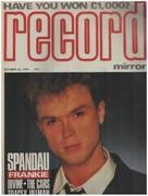 magazin - Record Mirror - OCT 20 / 1984 - Spandau Ballet