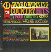 LP - Red Sovine , Ruby Wright , Mel Tillis , Wayne Walker - 43 Award Winning Country Hits, By Four Country Stars - Still Sealed