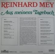 LP - Reinhard Mey - Aus Meinem Tagebuch
