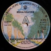 7'' - Renaissance - Back Home Once Again