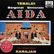 LP-Box - Verdi/ Karajan, Wiener Philharmoniker, R. Tebaldi, F. Corena, C. Bergonzi a.o. - Aida - booklet with libretto