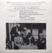 LP - Richard Wagner - Orchester der Bayreuther Festspiele , Karl Muck , Richard Strauss , Wilhelm Furtwä - Memories Of Bayreuth (Excerpts From Outstanding Bayreuth Festival Public Performances Of Wagner: Parsifal)