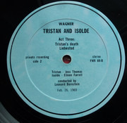 LP - Wagner - Tristan And Isolde (Excerpts) - Private record / textured