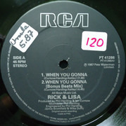 12inch Vinyl Single - Rick Astley And Lisa Fabien - When You Gonna