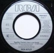 7'' - Rick Astley - Together Forever