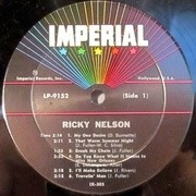 LP - Ricky Nelson - Rick Is 21