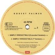 12'' - Robert Palmer - Simply Irresistible