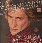 LP - Rod Stewart - Foolish Behaviour - Poster