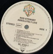 Double LP - Rod Stewart - Absolutely Live