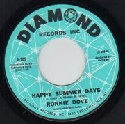 7inch Vinyl Single - Ronnie Dove - Happy Summer Days / Long After - Original US. Picture Sleeve