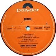 LP - Rory Gallagher - Deuce - GERMAN POLYDOR