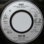 7inch Vinyl Single - Rouge - Hold On