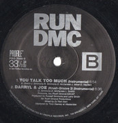 12inch Vinyl Single - Run-DMC - You Talk Too Much / Daryll & Joe (Krush Groove 3)