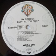 LP - Ry Cooder - Bop Till You Drop