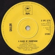 7'' - Sailor - A Glass Of Champagne