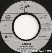 7inch Vinyl Single - Sandra - One More Night