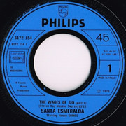 7inch Vinyl Single - Santa Esmeralda - Beauty - The Wages Of Sin