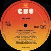 12'' - Santana - Say It Again (Dance Mix)