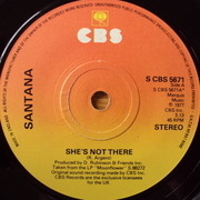 7'' - Santana - She's Not There / Zulu