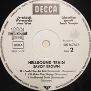 LP - Savoy Brown - Hellbound Train - Promo