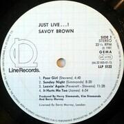LP - Savoy Brown - Just Live - BLACK VINYL