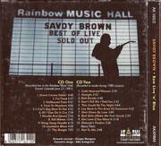 Double CD - Savoy Brown - Raw Live 'n' Blue - gatefold cardboard sleeve
