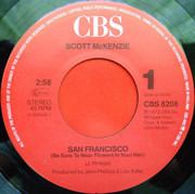 7inch Vinyl Single - Scott McKenzie - San Francisco (Be Sure To Wear Some Flowers In Your Hair)