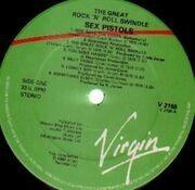 LP - Sex Pistols - The Great Rock 'N' Roll Swindle - UK VIRGIN