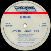 12'' - Shannon - Give Me Tonight