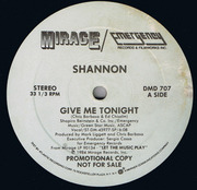 12'' - Shannon - Give Me Tonight - Promo