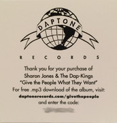 LP - Sharon Jones & The Dap-Kings - Give The People What They Want - Ltd. Mono
