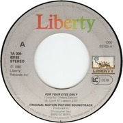 7inch Vinyl Single - Sheena Easton - For Your Eyes Only / For Your Eyes Only (Instrumental)