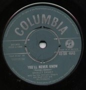 7'' - Shirley Bassey - You'll Never Know
