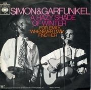 7'' - Simon & Garfunkel - A Hazy Shade Of Winter