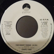 7inch Vinyl Single - Simply Red - The Right Thing